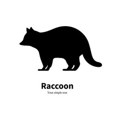 a black raccoon silhouette vector image