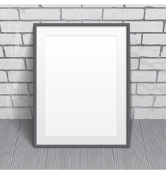 Blank paper poster with frame vector image vector image