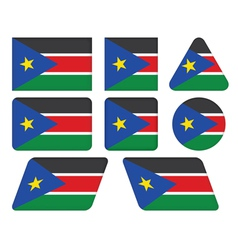 buttons with flag of South Sudan vector image vector image