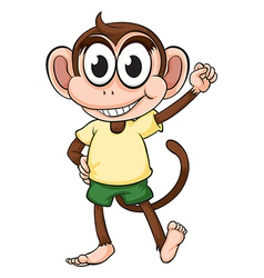 Monkey on a white background vector image vector image