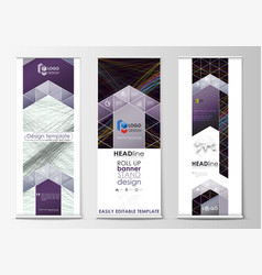set of roll up banner stands geometric flat style vector image vector image