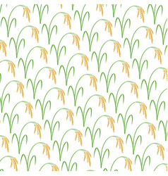 background pattern with rice vector image
