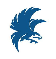 eagle bird logo abstract design vector image vector image