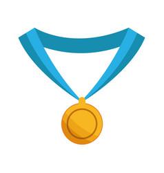 medal award win sport gold icon vector image