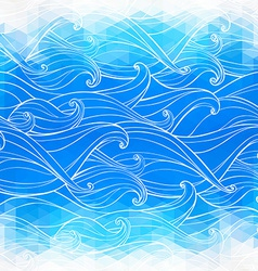 Abstract triangular background with hand-drawn vector image