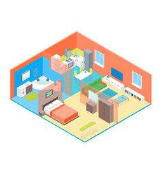 apartment family rooms interior with furniture vector image vector image