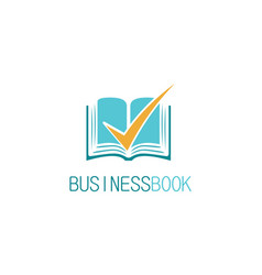 check book business logo vector image vector image