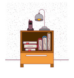 color background with sparkles nightstand with vector image vector image