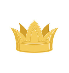 golden ancient crown classic heraldic imperial vector image