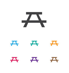 Of camping symbol on table vector