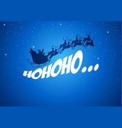 santa claus driving his sleigh vector image