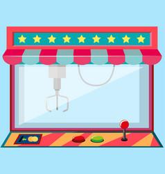 A claw crane machine game vector