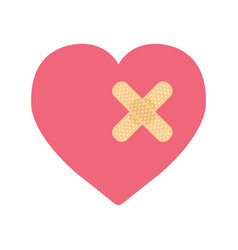 a heart with bandage vector image