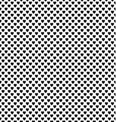 Abstract black and white heart pattern background vector image