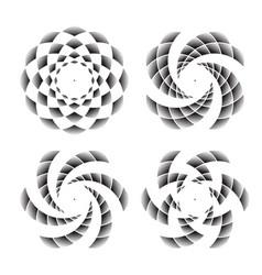 abstract circle symbols vector image