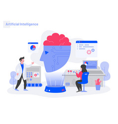 artificial intelligence concept modern flat vector image