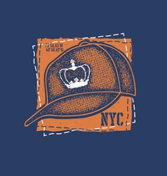 baseball cap on white background vector image