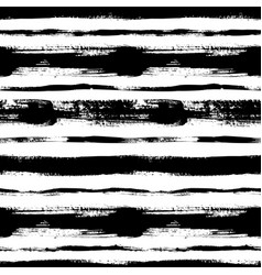 black horizontal lines seamless pattern vector image