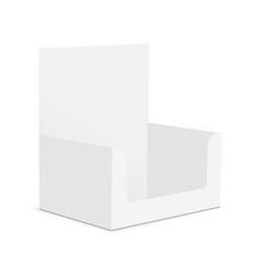 Blank cardboard display box mock up isolated vector