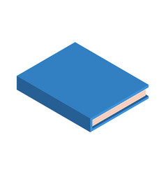 blue school new book icon isometric style vector image