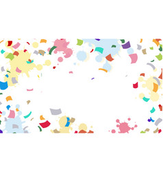 bright colorful background with ribbons vector image