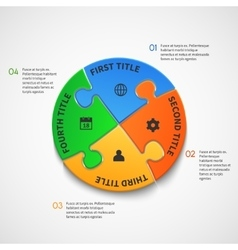 Business infographic template with puzzle vector image