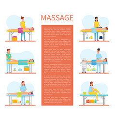 Cabinet of medical relaxing massage poster vector