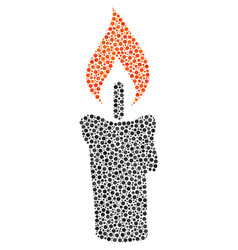 Candle collage of small circles vector