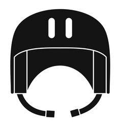 Canoe helmet icon simple style vector