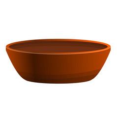 Ceramic historic bowl icon cartoon style vector