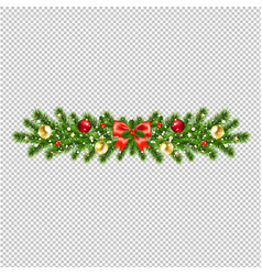 christmas wreath isolated transparent background vector image