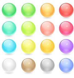 Circle Web Buttons vector image vector image