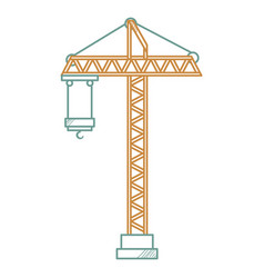 construction crane tower icon vector image