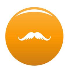 Cutting mustache icon orange vector