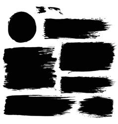 Different Black Grunge Backgrounds Set vector