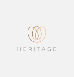 elegant flower logo design premium vector image
