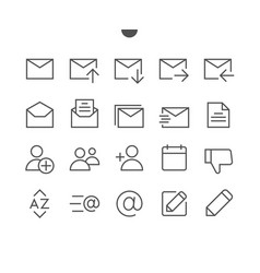 Email ui pixel perfect well-crafted thin vector