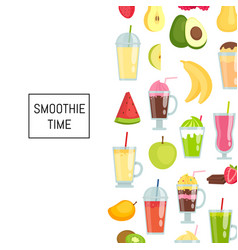 flat smoothie elements background banner vector image