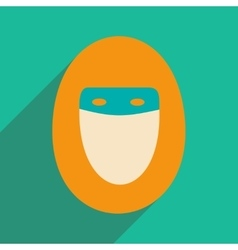 Flat with shadow icon and mobile application hijab vector