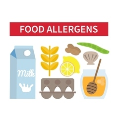 Food allergies set vector