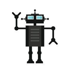 Funny robot in flat style vector