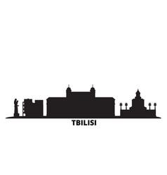 Georgia tbilisi city skyline isolated vector