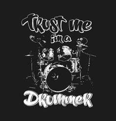 graphics for apparel drums t-shirt design vector image