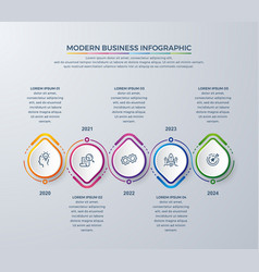 infographic design with 5 process choices vector image