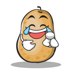joy potato character cartoon style vector image