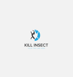Kill insect logo with modern pesticide vector
