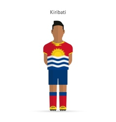 Kiribati football player Soccer uniform vector