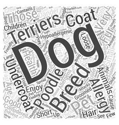 list of hypoallergenic dogs Word Cloud Concept vector image