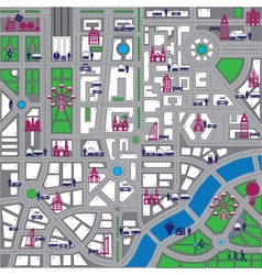 Map city vector image