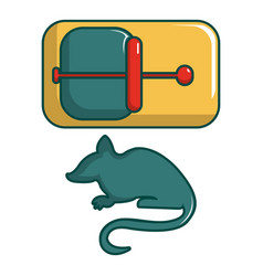 Mice trap icon cartoon style vector